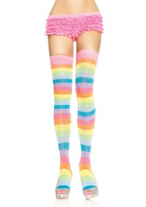 Pastel Striped Thi-highs