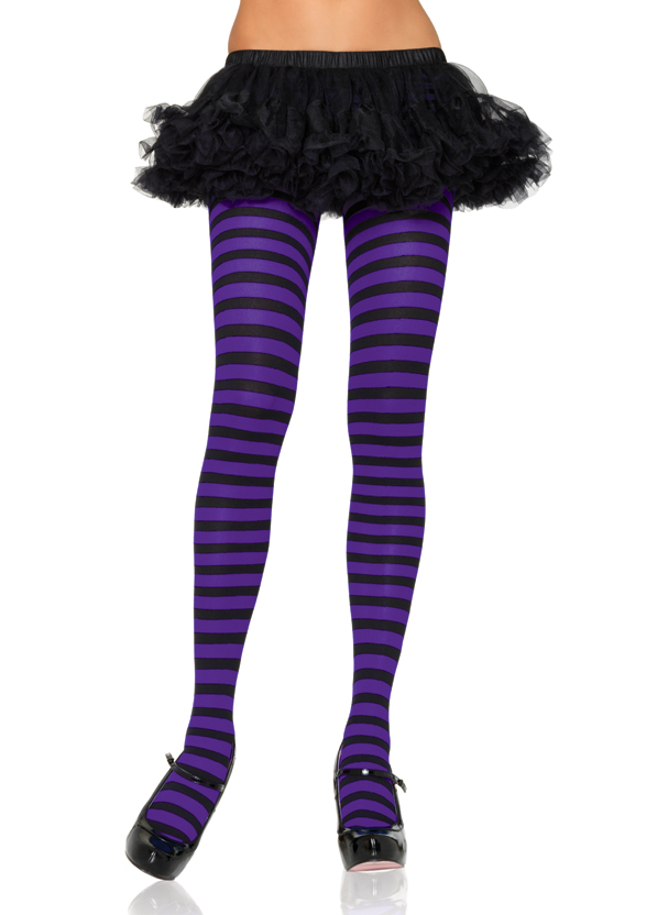 Queen-sized Striped Tights