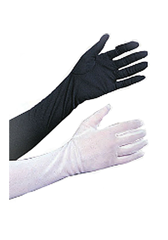Nylon opera length gloves