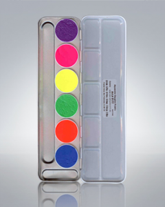 UV Dayglo Aquacolor palette