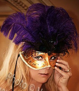 Gold and purple mask