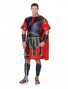 Toga, Belt with Attached Straps, Chest Cover with Attached Cape, Leg & Arm Guards