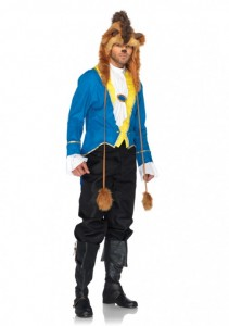 3 PC. Beast, includes jacket, neck scarf, and furry character hood