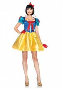 2 PC. Classic Snow White, includes dress with pleated organza stay up collar and matching bow headband.