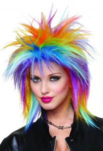 Rainbow Spiky Wig