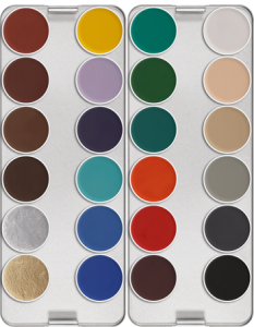Kryolan 24-color palette