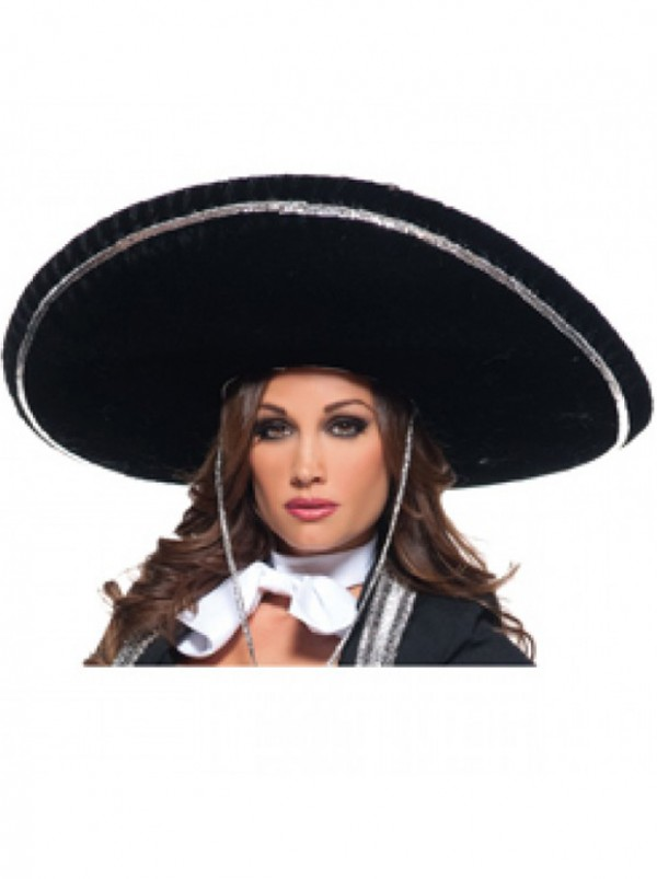 Mariachi hat with silver trim