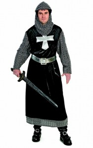 Medieval Costume includes robe, hood and belt.