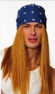 Rocker with Bandana wig